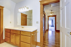 Maple bathroom vanity cabinet Royalty Free Stock Photo