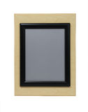 Maple and Black Picture Frame Royalty Free Stock Image