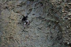 Maple canyon, utah rock climbing trip on cobb. 4.8.2018 - Maple Canyon, Utah Rock climbing trip on Cobb stock image