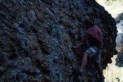 Maple canyon, utah rock climbing trip on cobb Royalty Free Stock Photography