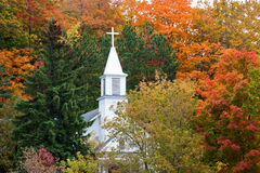 Maple City's St. Rita's Catholic Church in Autumn Royalty Free Stock Photography