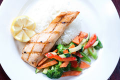 Maple Glazed Salmon Royalty Free Stock Photos