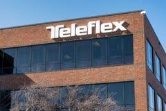 Teleflex Corporate Building and Trademark Logo Stock Photo
