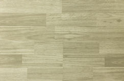 Maple hardwood basketball floor pattern as viewed from above Royalty Free Stock Image
