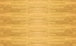 Maple hardwood basketball floor pattern as viewed from above. Stock Photos