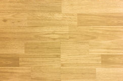 Maple hardwood basketball floor pattern as viewed from above. Royalty Free Stock Images