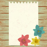 Maple jonquils with paper sheet Stock Photo