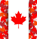 Maple Leaf background for the national day of Canada Stock Images