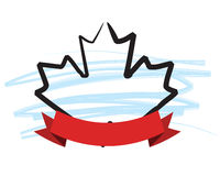 Maple Leaf and Banner Royalty Free Stock Photo