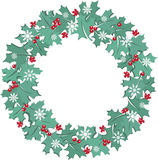 Maple leaf christmas wreath Royalty Free Stock Image