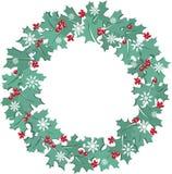 Maple leaf christmas wreath Royalty Free Stock Image
