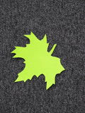 Green leaf. Paper cutting royalty free stock photo