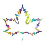 maple leaf design Stock Photo