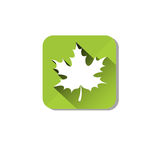 Maple Leaf Eco Organic Environment Clean Care Icon Royalty Free Stock Photos