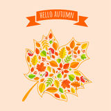 Maple leaf with fall pattern. Royalty Free Stock Photo