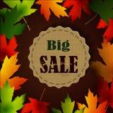 Maple leaf frame for seasonal sales Royalty Free Stock Image