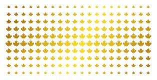 Maple Leaf Golden Halftone Pattern vector illustration