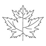 Maple leaf icon, outline style Royalty Free Stock Image