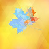 Maple leaf made of triangles. EPS 10 Royalty Free Stock Images