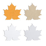 Maple leaf note pad Royalty Free Stock Image