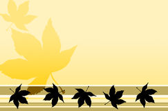Maple Leaf Pastel Background Stock Image