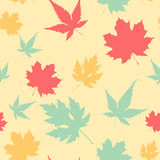 Maple leaf seamless pattern Royalty Free Stock Image