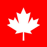 Maple leaf silhouette vector icon Stock Photography