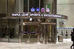 Maple Leaf Sports + Entertaiment. TORONTO-DECEMBER 14: Maple Leaf Sports + Entertaiment. Toronto is Canada's largest city and sixth largest government, and home Stock Photography