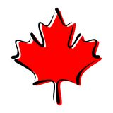 Maple Leaf - Symbol of Canada Stock Photography