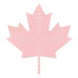 Maple leaf symbol red radial dot pattern Royalty Free Stock Image