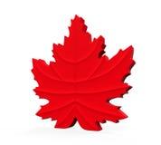 Maple Leaf Symbol. On white background. 3D render Stock Photo