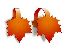 Maple Leaves advertising wobblers Royalty Free Stock Images