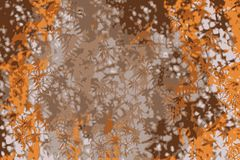 Maple leaves background with orange leaf in autumn vector illustration