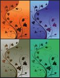 Maple Leaves Branch. Illustration of floral design background Stock Photography