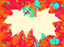 Maple leaves over paint background Royalty Free Stock Photos