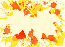 Maple leaves over paint background Royalty Free Stock Photo