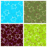 Maple leaves. Seamless pattern with maple leaves Stock Photos
