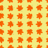 Maple leaves seamless pattern Royalty Free Stock Photo