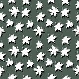 Maple leaves. Seamless pattern of maple leaves with shadows Royalty Free Stock Image