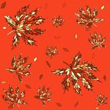 Maple leaves seamless pattern. Royalty Free Stock Images
