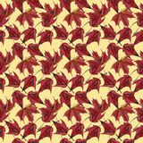 Maple leaves watercolor seamless pattern Royalty Free Stock Photos