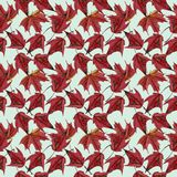 Maple leaves watercolor seamless pattern Stock Photo