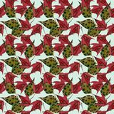 Maple leaves watercolor seamless pattern Royalty Free Stock Photo