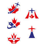 Maple plane. A set of plane icons Stock Photo