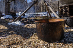 Maple Sap Kettle Royalty Free Stock Photo