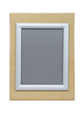 Maple and Silver Picture Frame Stock Images