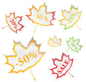 Maple Stickers Stock Photos