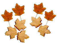 Maple sugar candies and Lollipops Royalty Free Stock Photo
