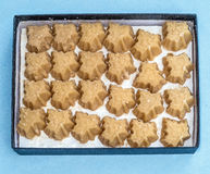 Maple sugar candy. Box of twenty four Vermont organic maple sugar candies, crystal coated Stock Photos