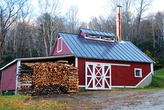 Maple Sugar shack stock images